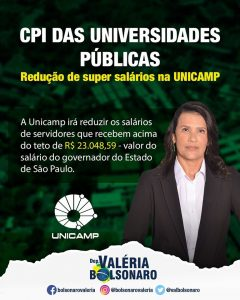 Deputada Valéria Bolsonaro - Trabalhos   Ações