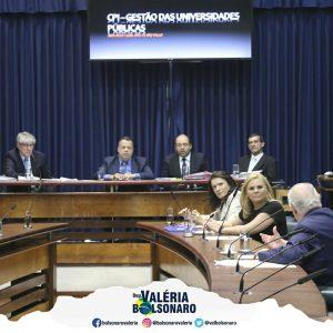 Valéria Bolsonaro na CPI - Gestão das Universidades Públicas - Funcamp, exclarecimento sobre a utilização das verbas públicas
