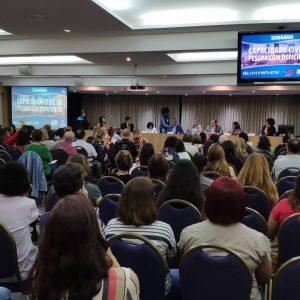 Participação no Seminário realizado pela Secretarias Municipal e Estadual da pessoa com deficiência