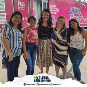 Apoio ao combate ao Câncer – coleta de exames de papanicolau e mamografia.