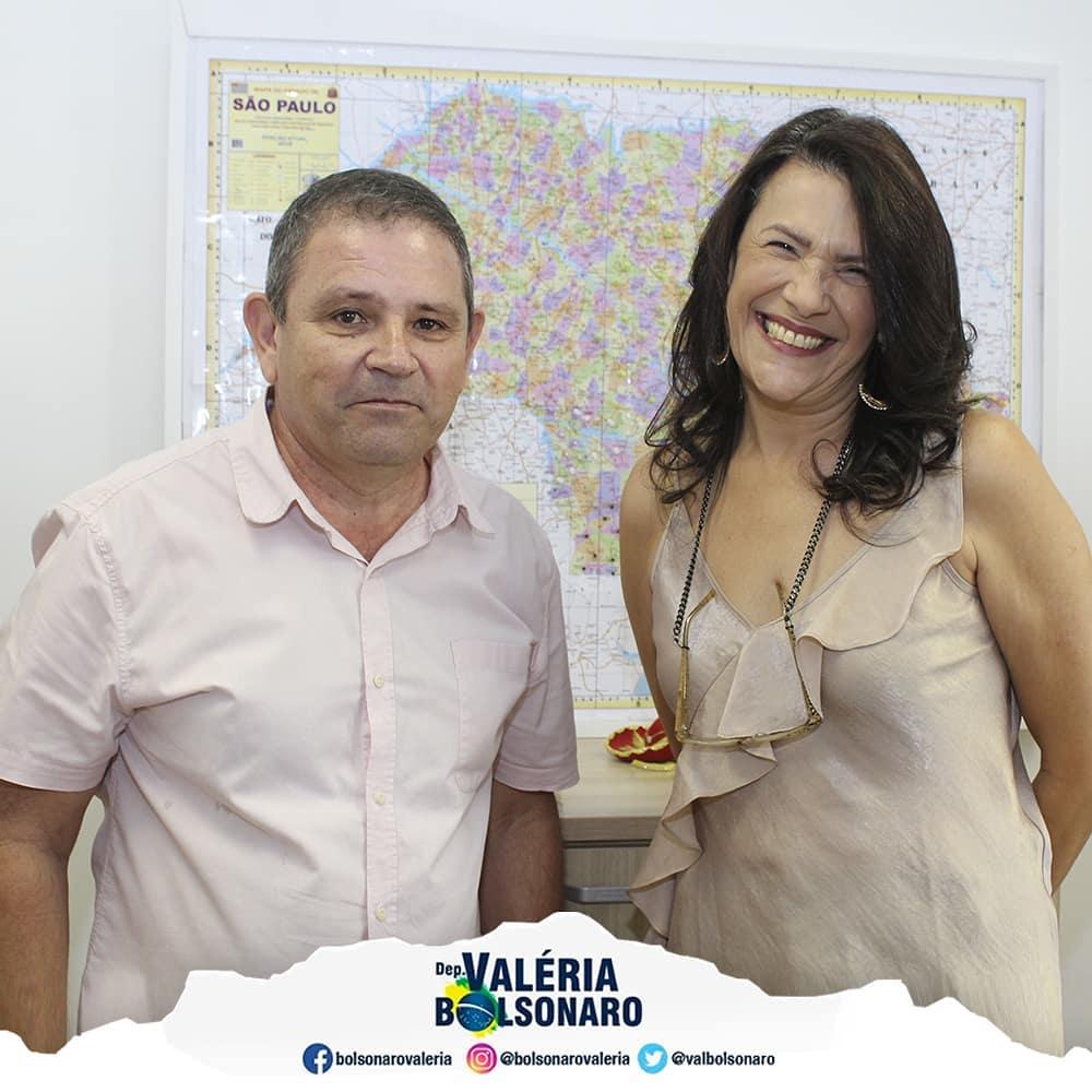 Parceria com o vice-presidente da Câmara de Capivari, Valdir Vitorino