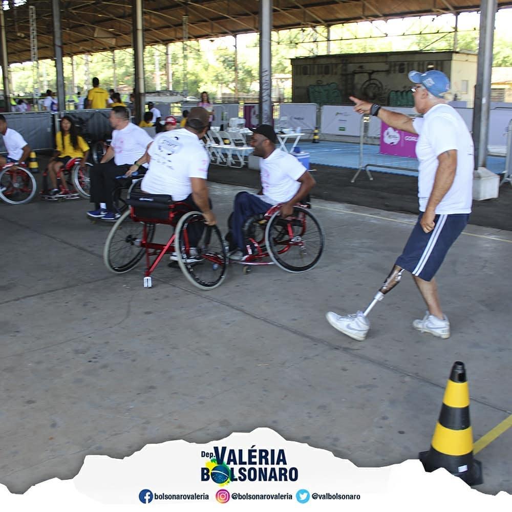 Na estação Cultura de Campinas – 1º Virada Esportiva Inclusiva.